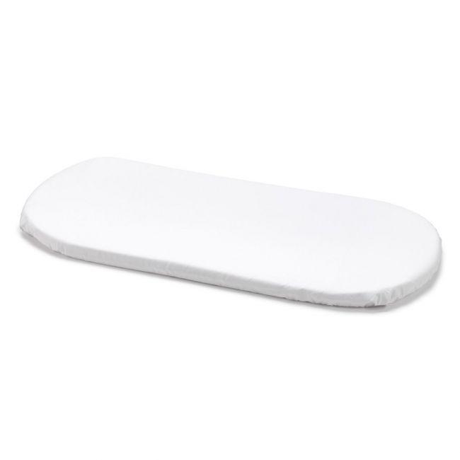 Sabana Bajera Ajustable Capazo/Car 35X80 Cm Liso E Blanco