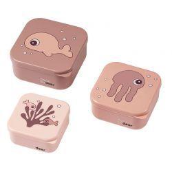 Set de cajas 3 piezas Sea Friends Rosa