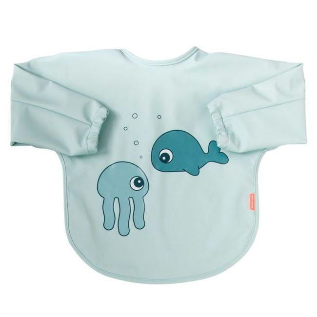 Babero con mangas 6-18 meses Sea Friends Azul