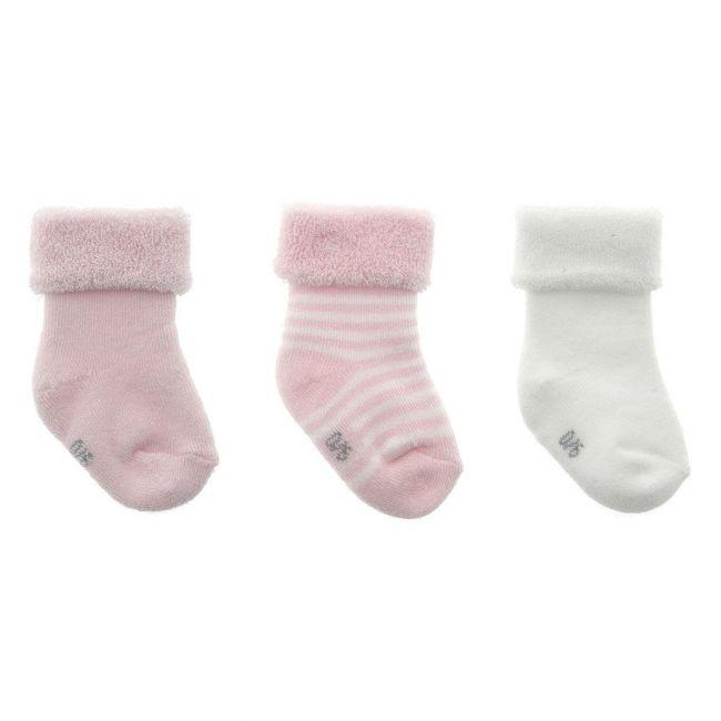 Juego 3 Calcetines Para Bebe Liso Rosa T.0000 ( 15 - 16)