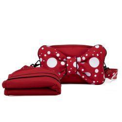 Bolso Cambiador Petticoat Red - Dark Red
