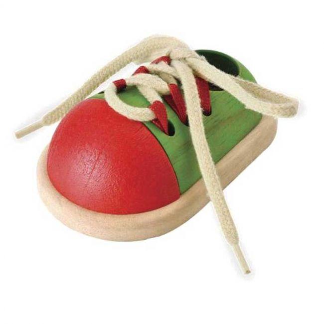 Juguete de Madera Zapato para Atar