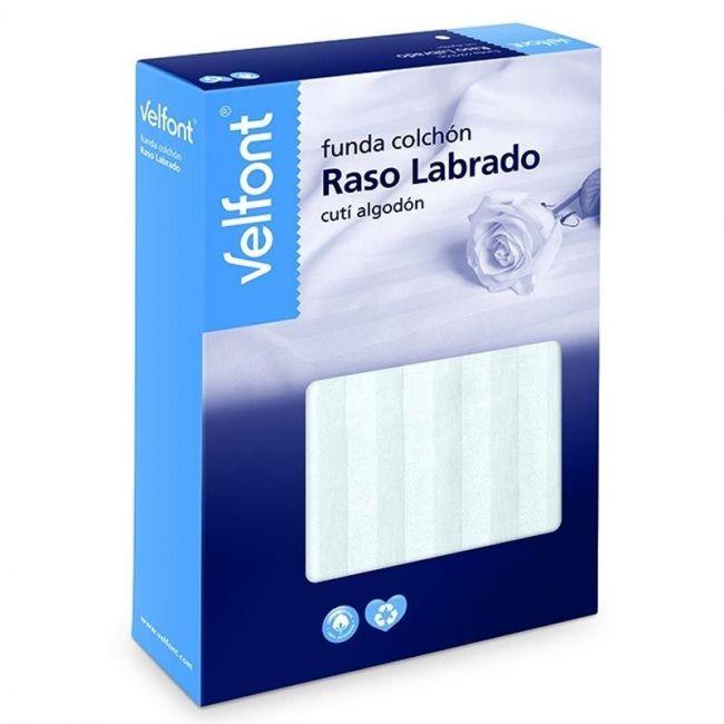 Funda de Colchón Raso Labrado Blanco 60x120