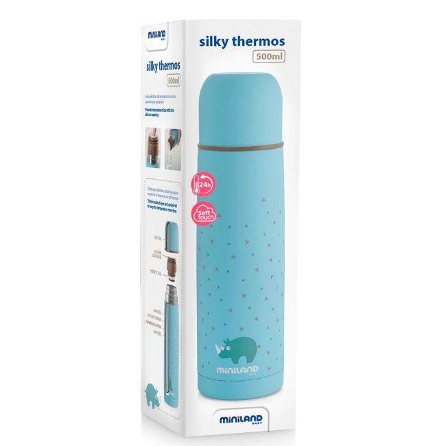 Termo para Líquidos Miniland Baby Silky Thermos Azul (500 ml.)