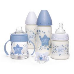 Pack Biberones Little Star Azul