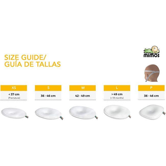 Cojin Mimos XS Plagiocefalia Prematuros Perímetro Craneal inferior a 37 cm