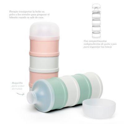 Nuvita kit 1132 cepillo de seda natural y peine rosa