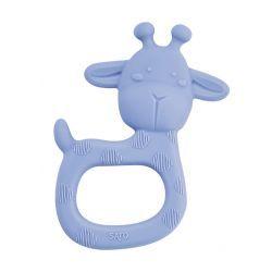 Mordedor De Silicona Giraffe Party Azul