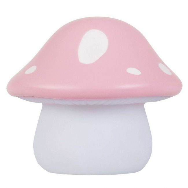 Lámpara Led Quitamiedos Mushroom Seta Rosa Little Lovely