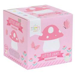 Lámpara Led Quitamiedos Mushroom Seta Rosa Little Lovely