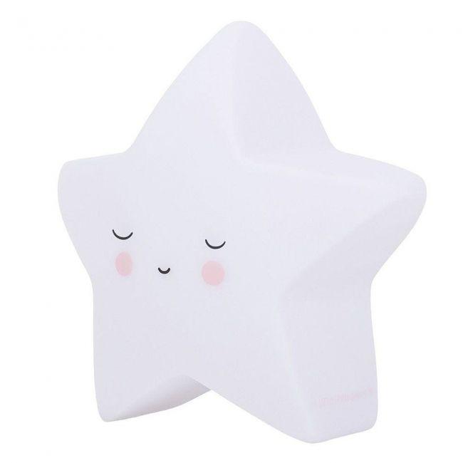 Lámpara Led Quitamiedos Sleeping Star Estrella Blanca Little Lovely