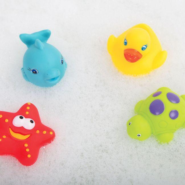 Set de Amiguitos para el Baño con Red de Almacenamiento