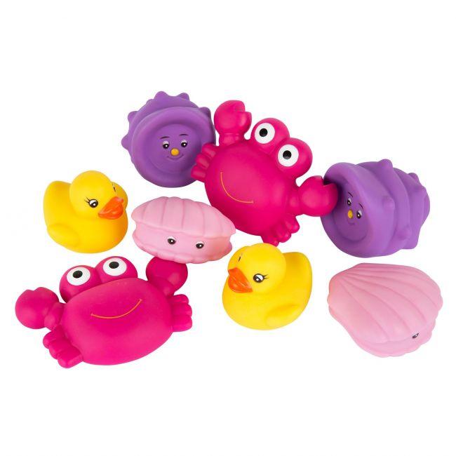 Set de Amiguitos de Baño 8 Piezas Rosa