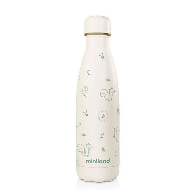 Botella Térmica Miniland Natur Chip Eco (500 ml) blanco