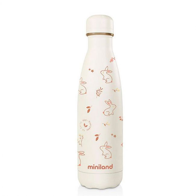 Botella Térmica Miniland Natur Bunny Eco (500 ml.) blanco