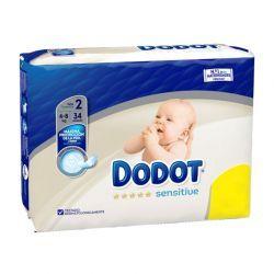 Pañales Dodot Sensitive Talla 2 Protección Plus (34 Uds) Recién Nacido 4-8kg