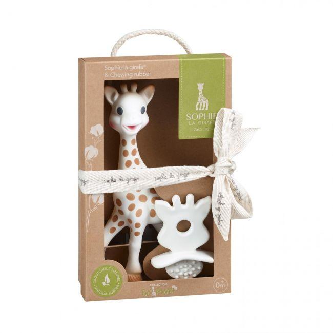Sophie La Girafe + Chupete So'Pure 100% Hevea Natural