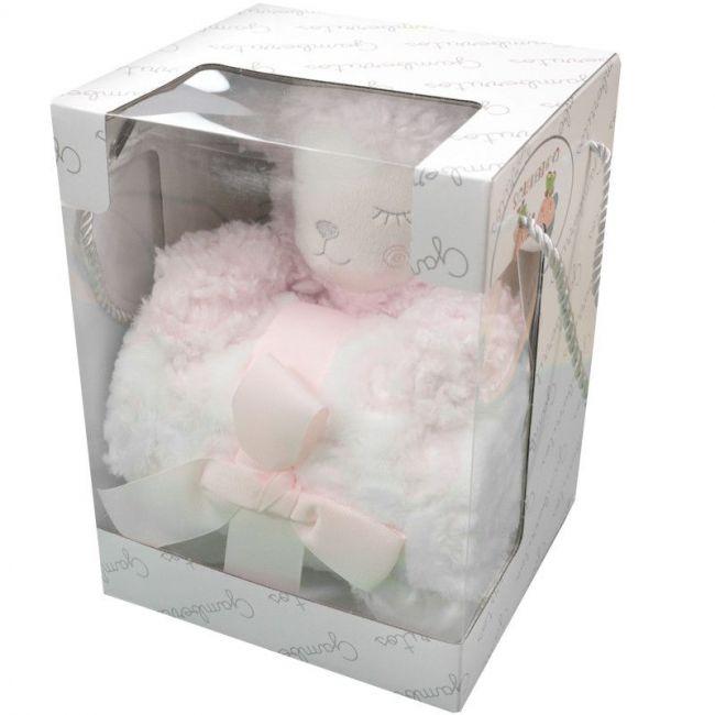 Set regalo muñeco y manta ovejita rosa