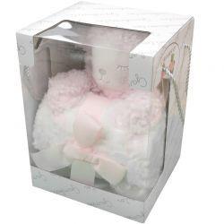 Set de regalo muñeco y manta ovejita rosa