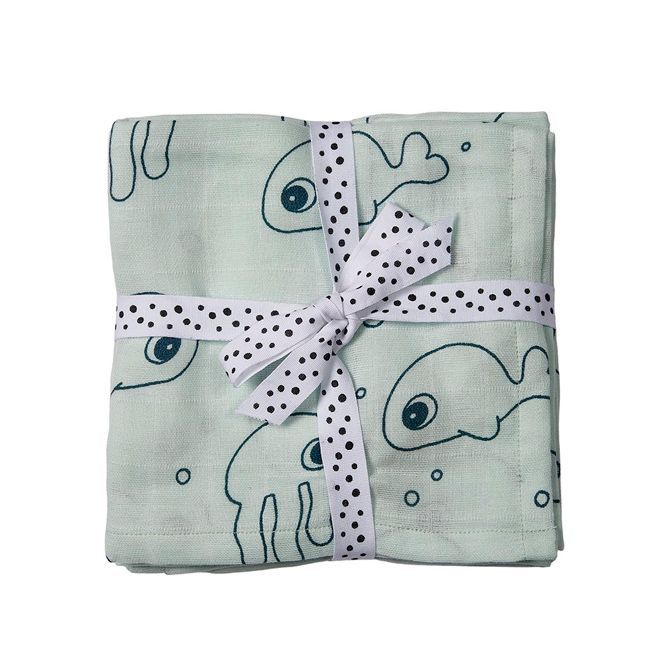Swaddle 2-Pack Sea Friends Blue