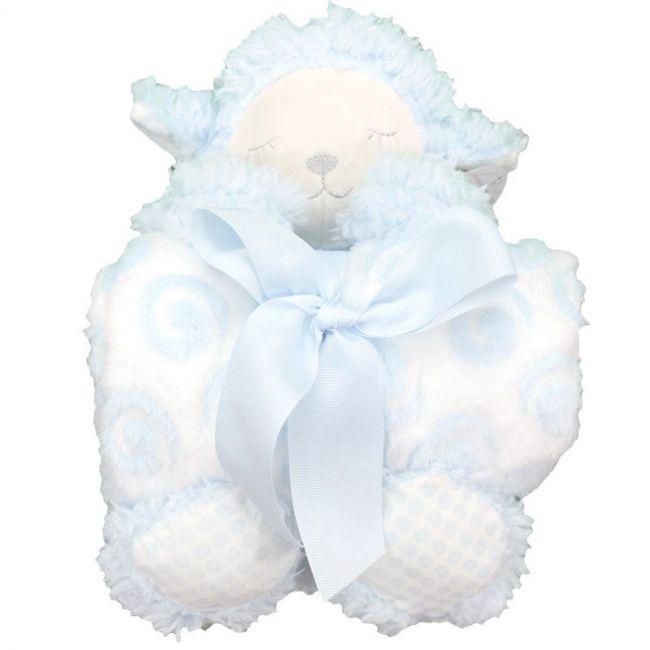Set de regalo muñeco y manta: Ovejita azul
