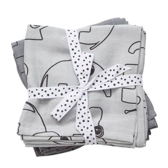 Burp Cloth 2-Pack Contour Grey