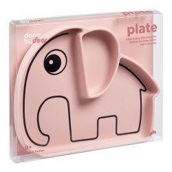 Bowl de Silicona con Ventosa Elphee Elefante Rosa
