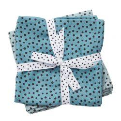Juego 2 Muselinas Happy Dots Azul