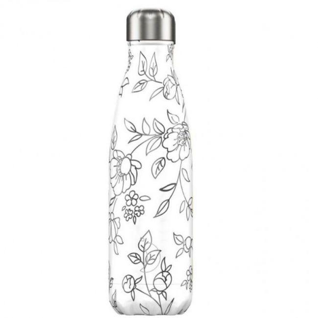 Botella Drawing Flores 500ml