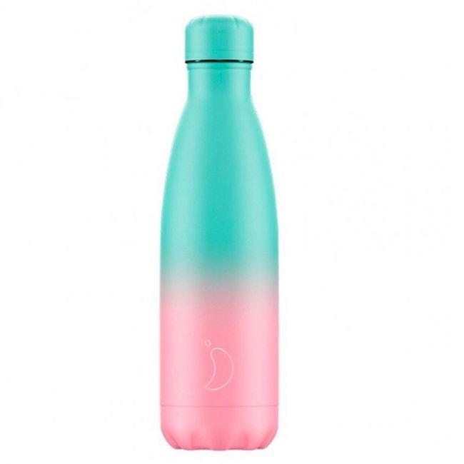 Botella Gradiente Menta y Rosa 500ml
