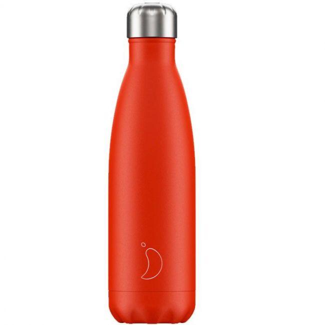 Botella Roja Neon 500ml