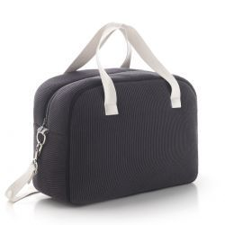 Bolso Maternal Prome London Gris 18X41X31 Cm